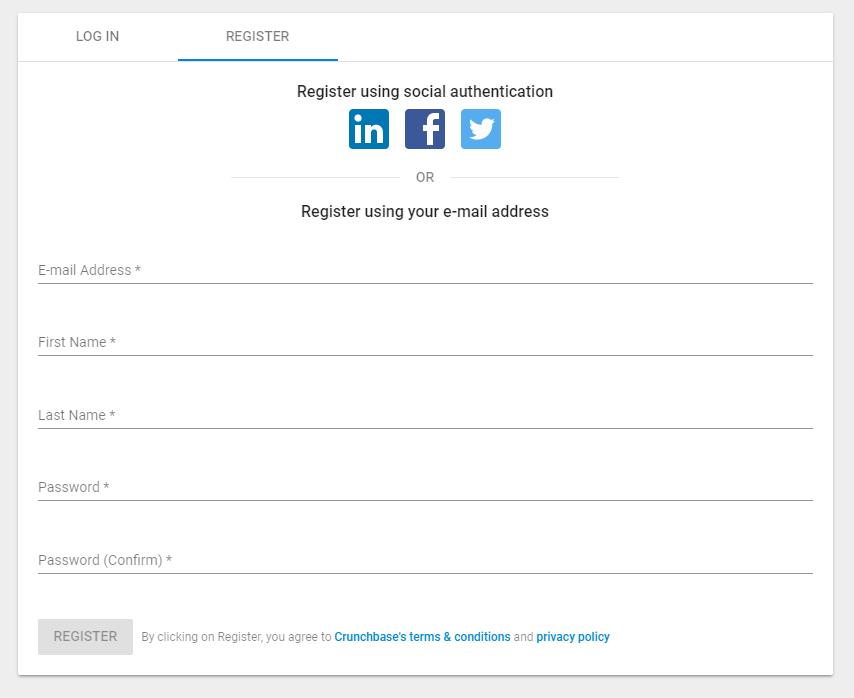 create crunchbase personal profile