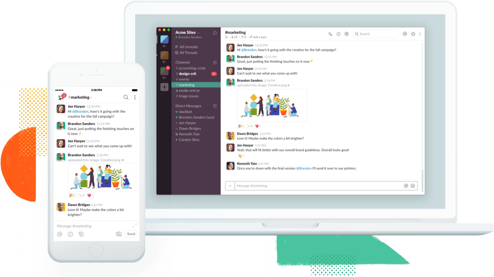 Slack for instant messaging