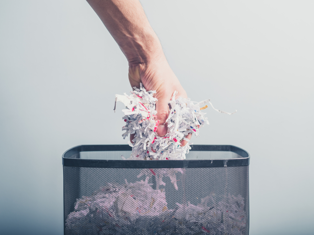 secure shredding of documents