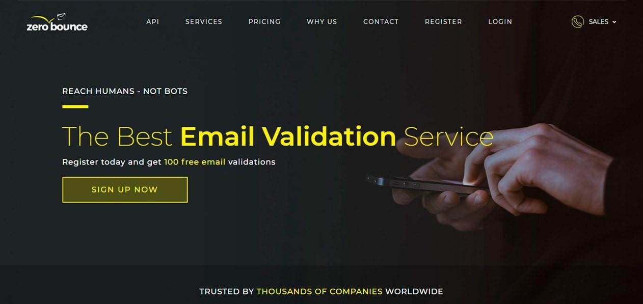 zero bounce email verification service